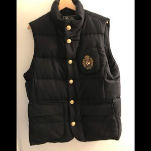Polo RL Navy Puffer Vest (NWT) Size Medium